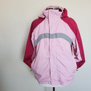 LL Bean Child Size XL Hooded Jacket Pink Coat